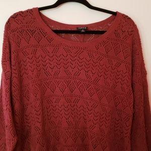 Dusty mauve open knit sweater